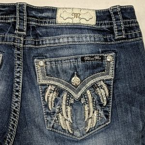 Miss Me Easy Boot Angel Wing Jeans